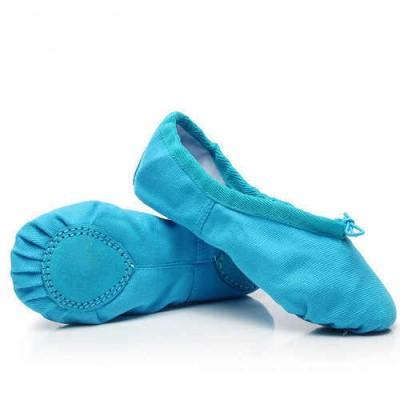 Балетки для танцев БК5 голубые