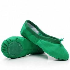 Балетки для танцев БК3 зеленые