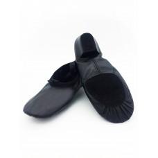 Балетки с каблуком для танцев БК11 чёрные