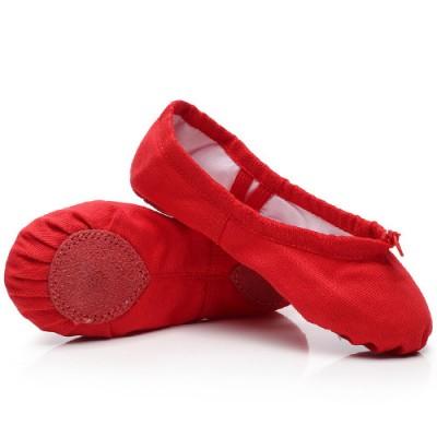 Балетки для танцев красные Китай БК5