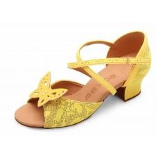 Бальные туфли  Eckse Бамбини (жёлтый гипюр)