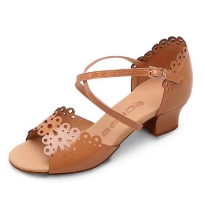 Бальные туфли  Eckse Бамбини (бежевый лак)