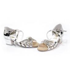 Бальные туфли Club Dance  Б-2 зеркало серебро