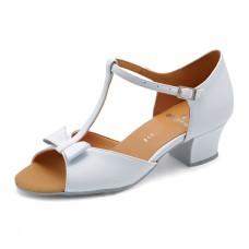 Бальные туфли Eckse Минни (белый лак)
