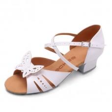 Бальные туфли  Eckse Бамбини 01 (молочный лак)
