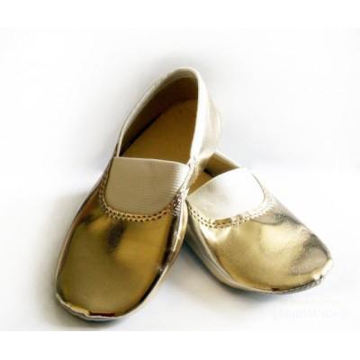 Чешки золотые для танцев Башмачок БЧ-002