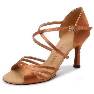 Туфли латина Eckse Аурелия (коньяк кожа, каблук 5 см)