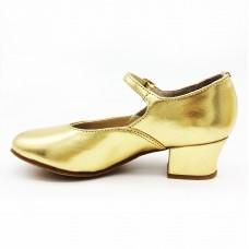 Туфли народные Club Dance Н-4 золото