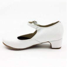 Туфли для народного танца Башмачок №2 белые