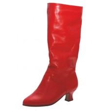 Сапоги  народные Club Dance Н-1 (красные, каблук 3,5 см)