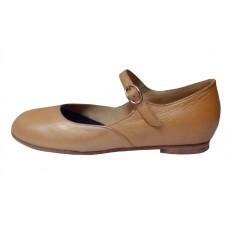 Туфли для народного танца Башмачок №1 (бежевые)