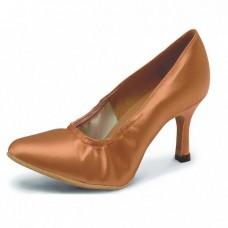 Туфли для стандарта Club Dance  81102 (золото кожа, каблук 7 см)
