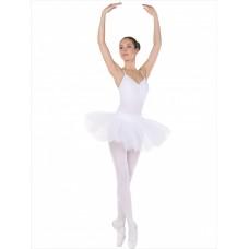 Трико балетное с отверстием Solo TR-20-35 белое