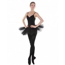 Трико балетное с отверстием Solo TR120 черное 80DEN