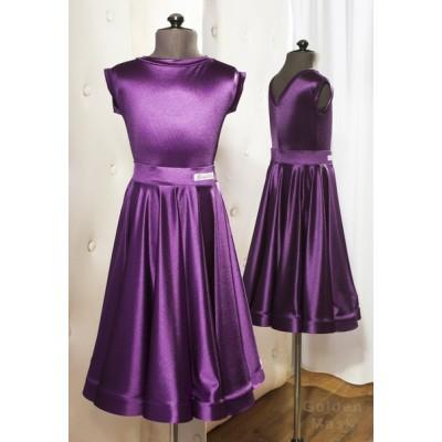 Рейтинговое платье Golden Mask GM-02 (пурпурный) + бант