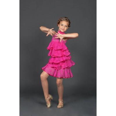 Платье латина Fenist Елка ПЛ-205/1