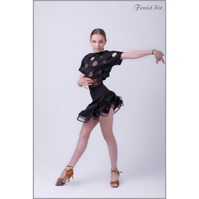Юбка для латины Fenist ЮЛ-464/1 Санрайс